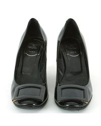 Roger Vivier Black Patent Leather Ballet Flats