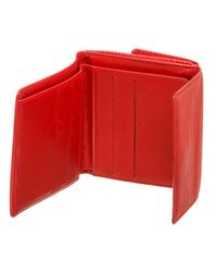 Cartera en cuero rojo Louis Vuitton de color Red