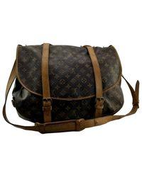 Louis Vuitton Pre-owned Vintage Saumur Brown Cloth Handbag