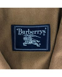Mantel en Cachemire Camel Burberry pour homme en coloris Multicolor