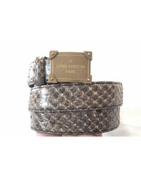 Louis Vuitton Natural Python Gürtel