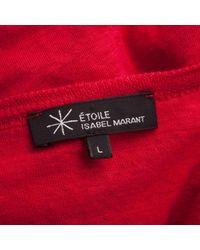 Étoile Isabel Marant Red Linen Top