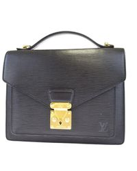 Louis Vuitton Black Monceau Leder Aktentaschen