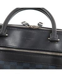 Louis Vuitton Porte Documents Jour Leinen Taschen in Black für Herren