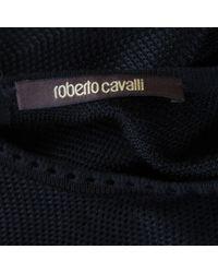 Robe en Viscose Noir Roberto Cavalli en coloris Black