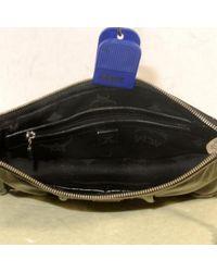 Bolsa de mano en charol negro MCM de color Black