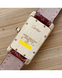 Cartier Yellow Tank Américaine Gelbgold Uhren