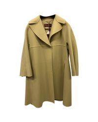 Max Mara Yellow Pre-owned Wool Coat