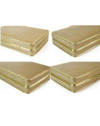 Bolsa clutch en cuero dorado Michael Kors de color Metallic