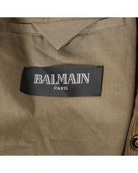 Mantel \N en Coton Kaki Balmain pour homme en coloris Multicolor