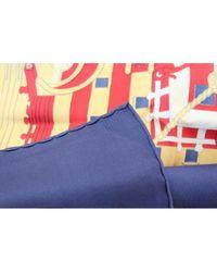 Carré en seda azul Carré 70 Hermès de color Blue