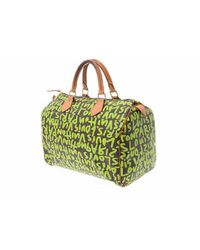 Borse a mano Speedy Verde di Louis Vuitton in Green