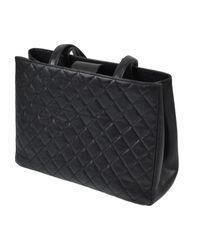 Bolso de Cuero Chanel de color Black