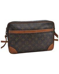 Bolsa de mano en lona marrón Trocadéro Louis Vuitton de color Brown