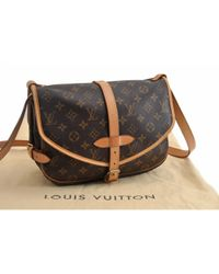 Louis Vuitton Brown Saumur Leinen Cross Body Tashe