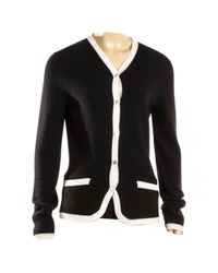 Chanel - Black Cashmere Cardigan - Lyst