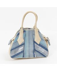 Sac à main en Suede Bleu Vivienne Westwood en coloris Blue
