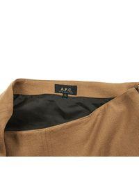 A.P.C. Natural Camel Wool Skirt