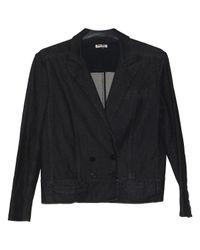 Miu Miu Black \n Anthracite Cotton Jacket