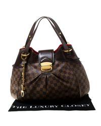 Sac à main Sistina en Toile Marron Louis Vuitton en coloris Brown