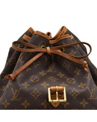 Louis Vuitton Brown Montsouris Leinen Rucksäcke