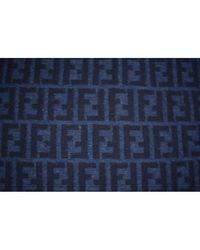 Fendi Blue Wolle Schals