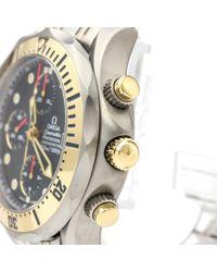 Orologio in placcato oro blu Seamaster di Omega in Blue da Uomo