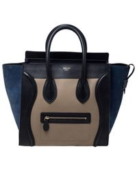 Céline Black Luggage Leder Handtaschen