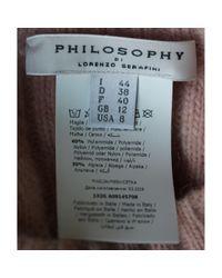 Pull.Gilets \N en Laine Rose Philosophy Di Lorenzo Serafini en coloris Multicolor