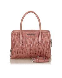Miu Miu Pink Leather