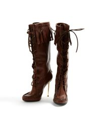Tom Ford Brown Leather Boots