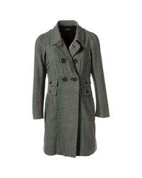 Sonia Rykiel Gray Grey Wool Coat