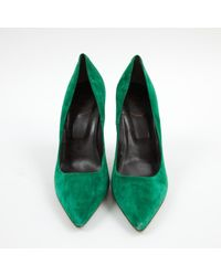 Escarpins en Suede Vert Roger Vivier en coloris Green