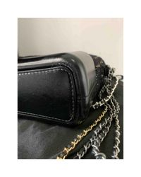 Chanel Black Gabrielle Tweed Cross body tashe