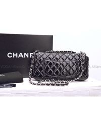 Chanel Timeless/classique Black Patent Leather