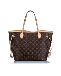 Bolsa de mano en plástico marrón Neverfull Louis Vuitton de color Brown