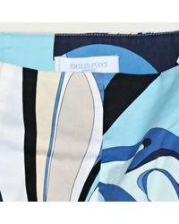 Emilio Pucci Blue \n Multicolour Cotton - Elasthane Shorts