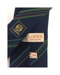 Corbatas en seda multicolor Loewe de hombre de color Blue