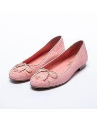 Chanel Pink Python Mokassins