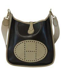 Bolsa de mano en cuero marrón Evelyne Hermès de color Brown