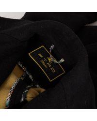 Abrigo en lana negro \N Etro de color Black