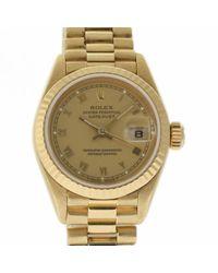 Orologio in oro giallo beige Lady DateJust 26mm di Rolex in Natural