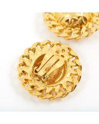 Pendientes en metal dorado Chanel de color Metallic
