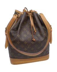 Louis Vuitton Black Noé Leinen Handtaschen