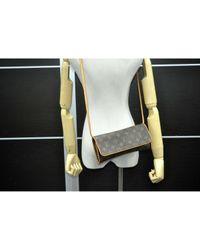 Louis Vuitton Brown Twin Leinen Clutches