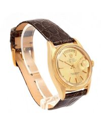 Rolex Day-date 36mm Gelbgold Uhren in Metallic für Herren
