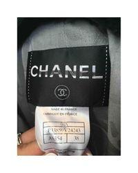 Chanel Gray Seide Trenchs