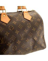 Louis Vuitton Brown Speedy Leinen Bowlingtasche