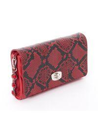 Pochette \N en Cuir Rouge Miu Miu en coloris Red