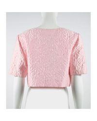 Vest en Coton Rose Oscar de la Renta en coloris Pink